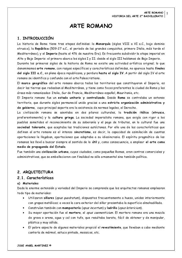 ARTE ROMANO          1                                                                    HISTORIA DEL ARTE 2º BACHILLERAT...