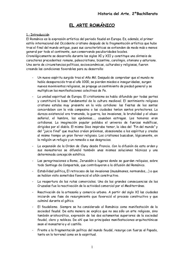 Historia del Arte. 2ºBachillerato EL ARTE ROMÁNICO 1.- Introducción El Románico es la expresión artística del periodo feud...