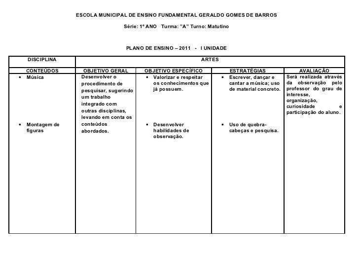 """ESCOLA MUNICIPAL DE ENSINO FUNDAMENTAL GERALDO GOMES DE BARROS                                   Série: 1º ANO Turma: """"A"""" ..."""