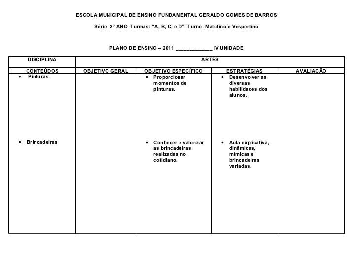 """ESCOLA MUNICIPAL DE ENSINO FUNDAMENTAL GERALDO GOMES DE BARROS                        Série: 2º ANO Turmas: """"A, B, C, e D""""..."""