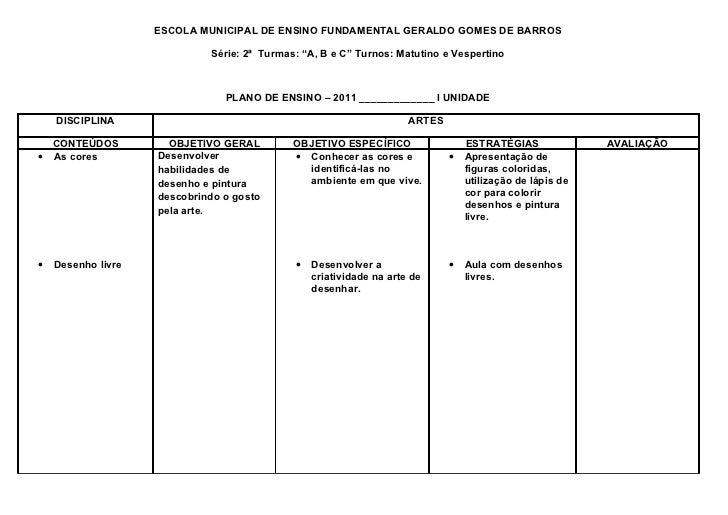"""ESCOLA MUNICIPAL DE ENSINO FUNDAMENTAL GERALDO GOMES DE BARROS                             Série: 2ª Turmas: """"A, B e C"""" Tu..."""