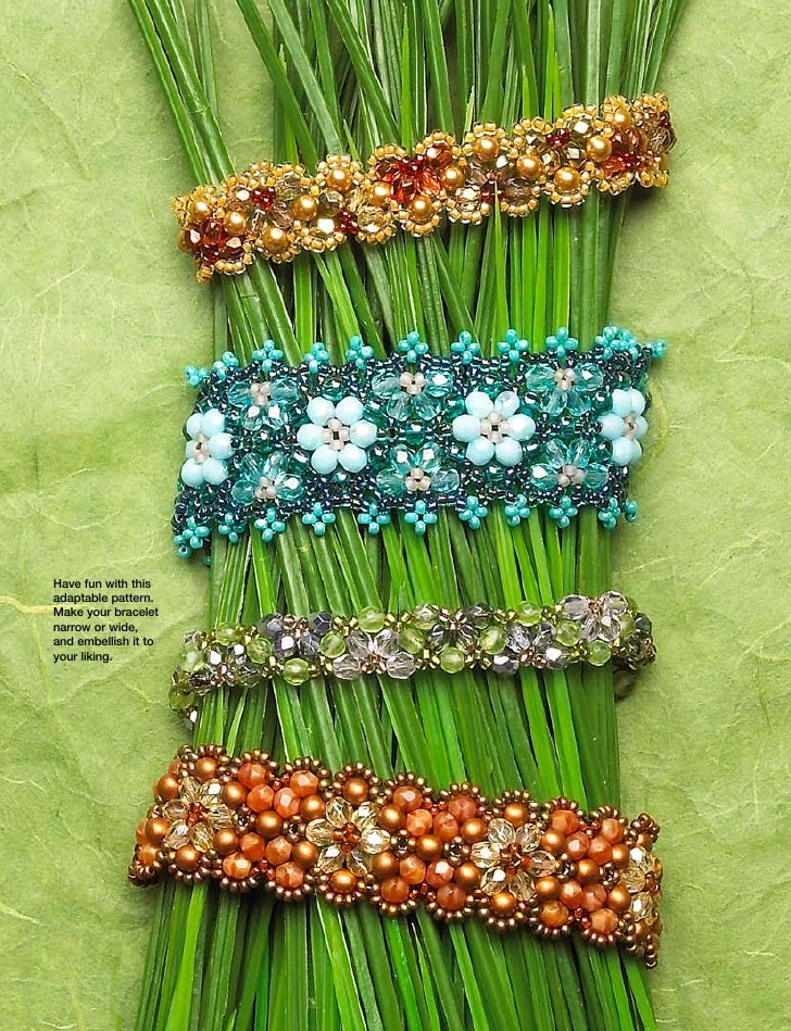 Have fun with this adaptable pattern. Make your bracelet narrow or wide, and embellish it to your liking.