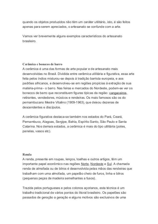 Artesanato Sao Carlos Sp ~ Artesanato no brasil muito