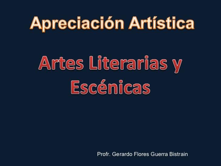 Profr. Gerardo Flores Guerra Bistrain