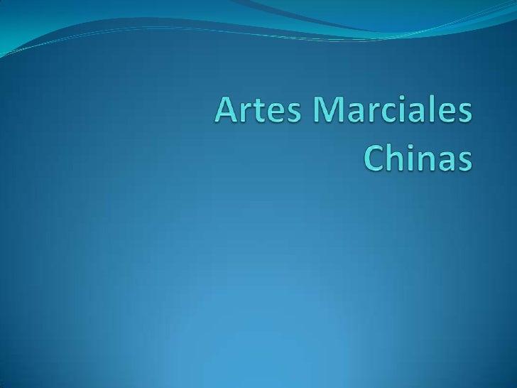Artes Marciales Chinas <br />