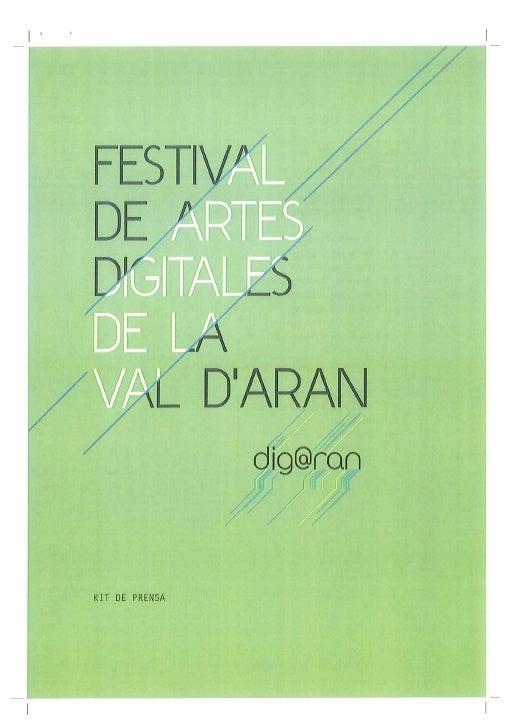 1r Festival de Artes numericas (digitales) dera Val d'Aran en Vielha