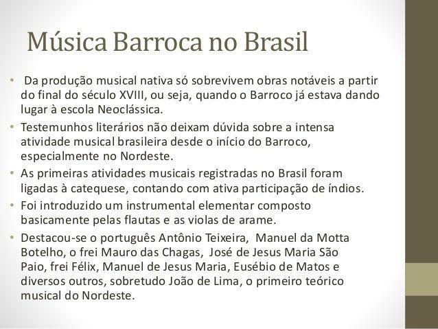 musicas barrocas brasileiras para