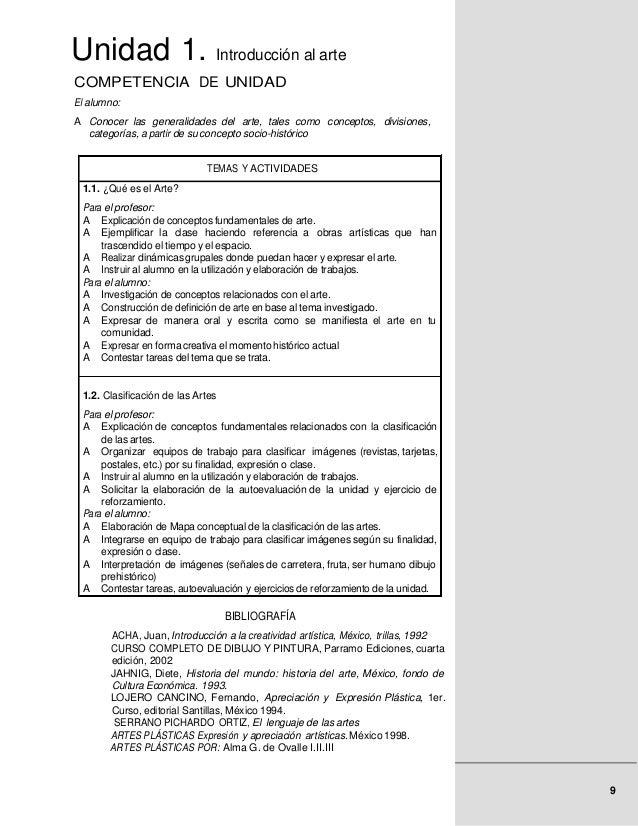 Unidad 1. Introducción al arteCOMPETENCIA DE UNIDADEl alumno:A Conocer las generalidades del arte, tales como conceptos, d...