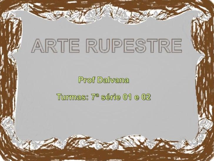 Artes Rupestre
