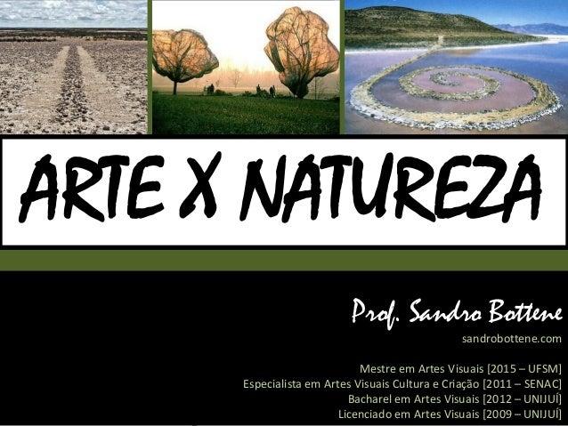 Prof. Sandro Bottene sandrobottene.com Mestre em Artes Visuais [2015 – UFSM] Especialista em Artes Visuais Cultura e Criaç...