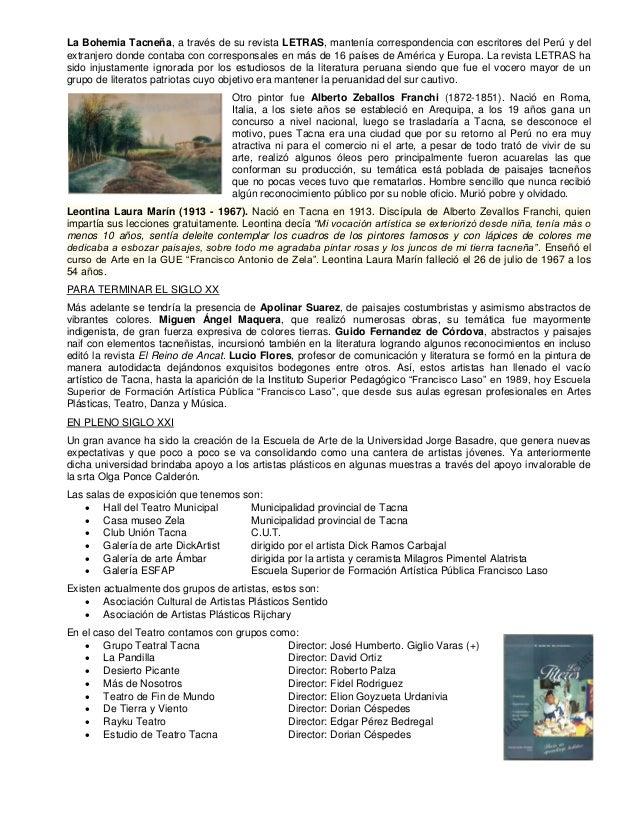 Arte y cultura en tacna Slide 3