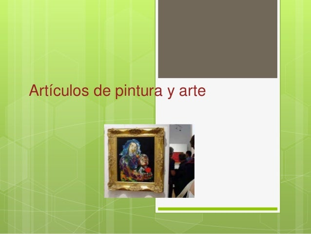 Artículos de pintura y arte