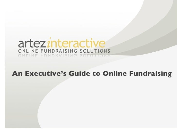 An Executive's Guide to Online Fundraising