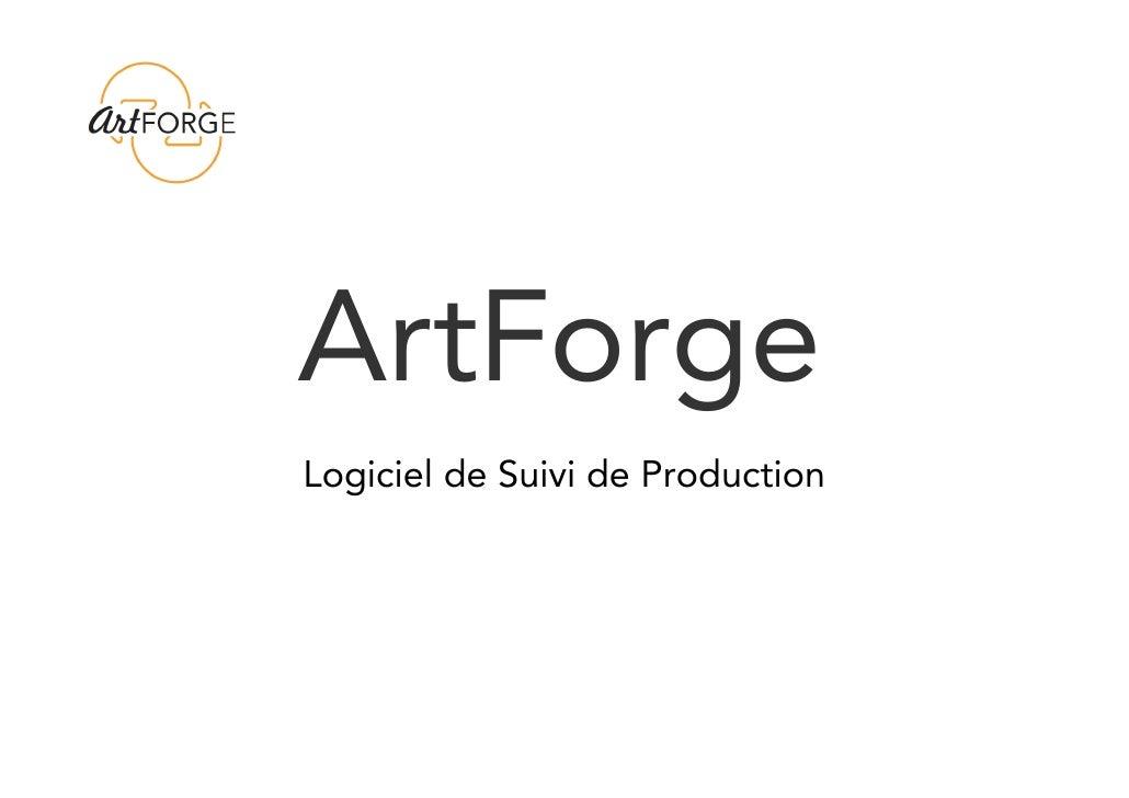 ArtForgeLogiciel de Suivi de Production