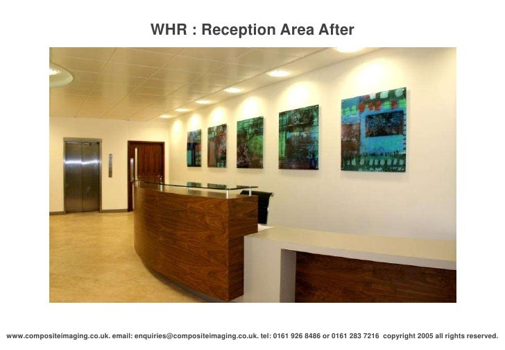 Whr reception area after