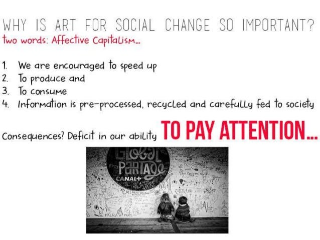 """'i~i'. Ll""""i' IS ART FOR SOCIAL CHAAIGE $0   l""""lPUP. Ti5iNT'?   Two words:  Aifteciive Capiiatism. ..  We are encouraged To..."""