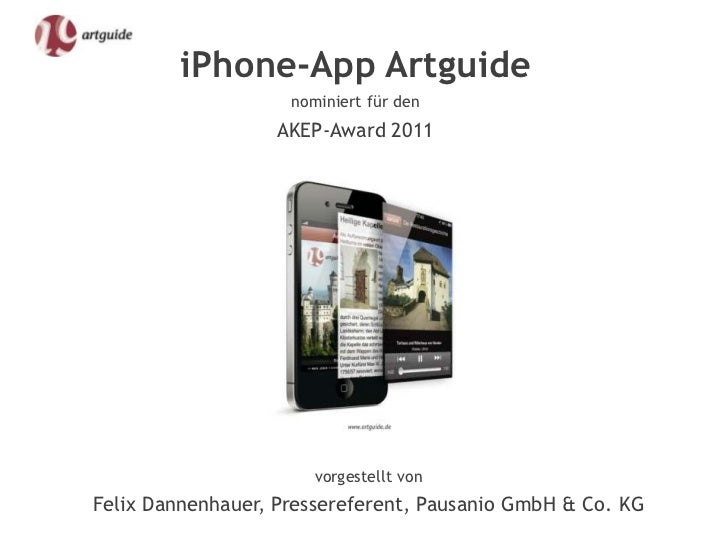 iPhone-App Artguide                    nominiert für den                   AKEP-Award 2011                       vorgestel...