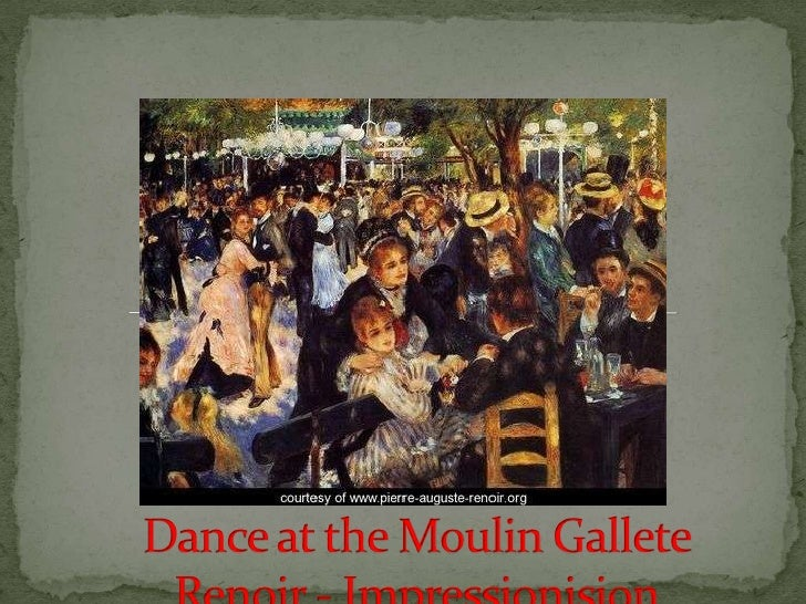 Dance at the Moulin Gallete Renoir - Impressionision<br />