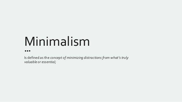 Minimalism for Minimalist art 1960