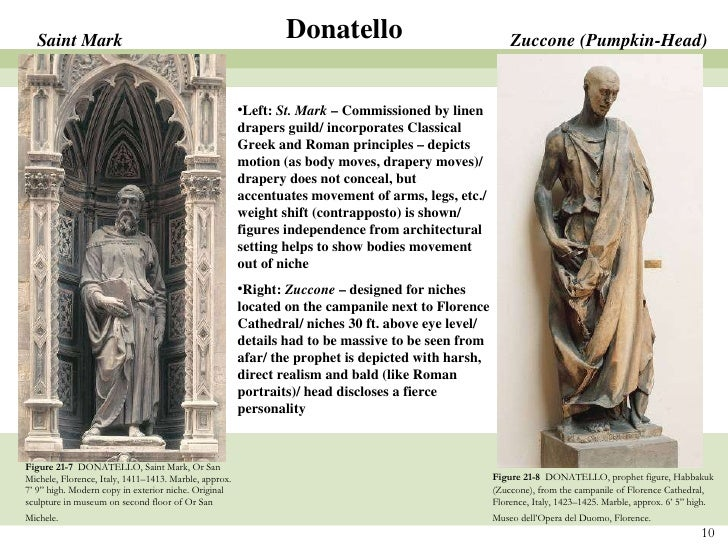 "characteristics of the statue of david by donatello Masaccio, donatello, and brunelleschi – renaissance pioneers the ""pioneer generation"" of the renaissance artists was generally considered to be the painter."