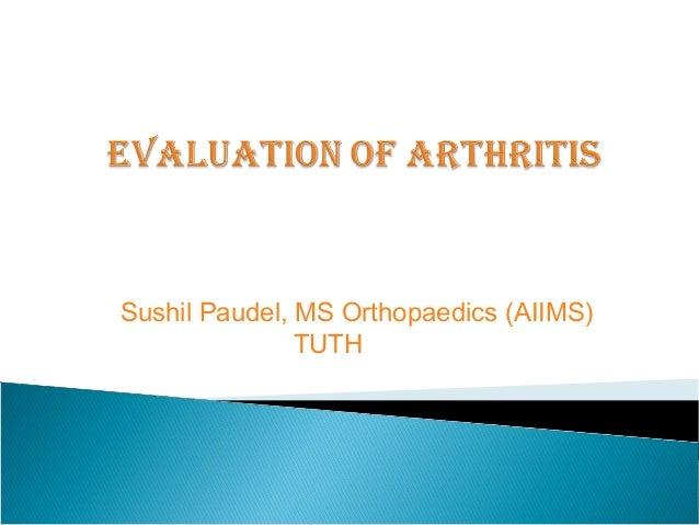 Sushil Paudel, MS Orthopaedics (AIIMS) TUTH