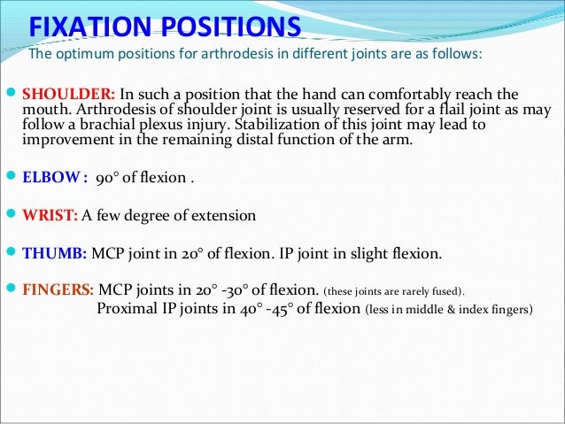 Position of thumb ip fusion