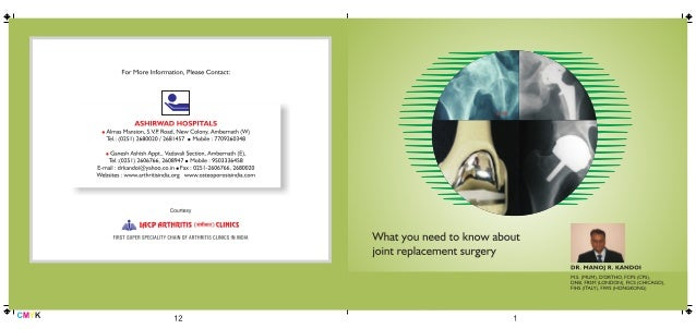 IACP Arthritis clinic Arthroplasty  brochure