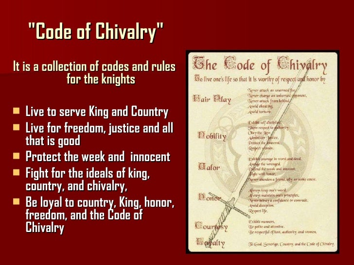 king arthur chivalry I need some examples of chivalry in the movie for a english essay i had to use examples from sir gawain and the green knight and excalibur please help me.