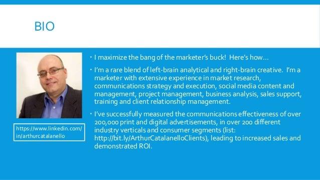 Arthur Catalanello Marketing Portfolio Slide 3