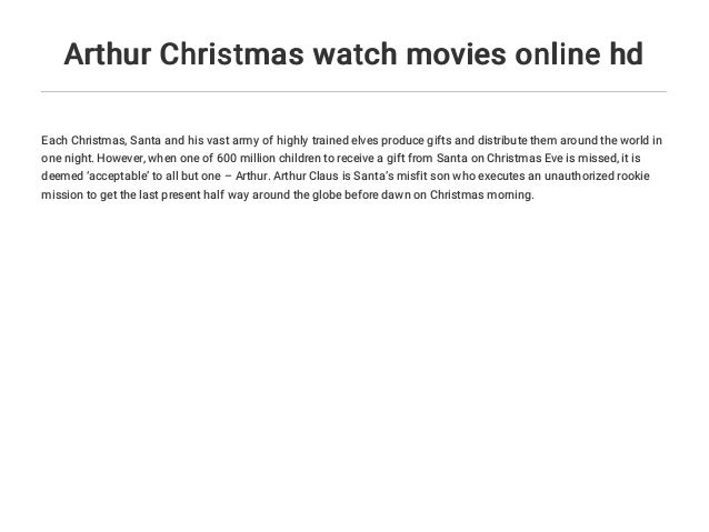 Arthur Christmas Watch Movies Online Hd