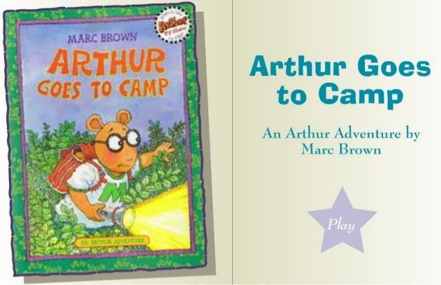 Arthur goes to gamp story for children's