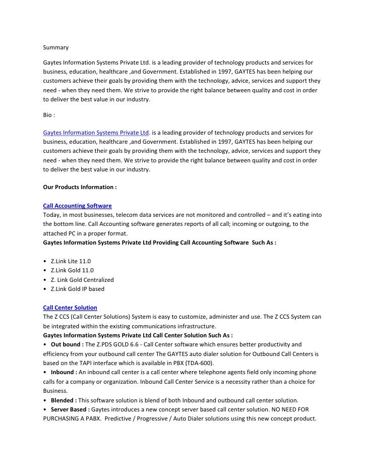 Summary<br />Gaytes Information Systems Private Ltd. is a leading provider of technology products and services for busines...