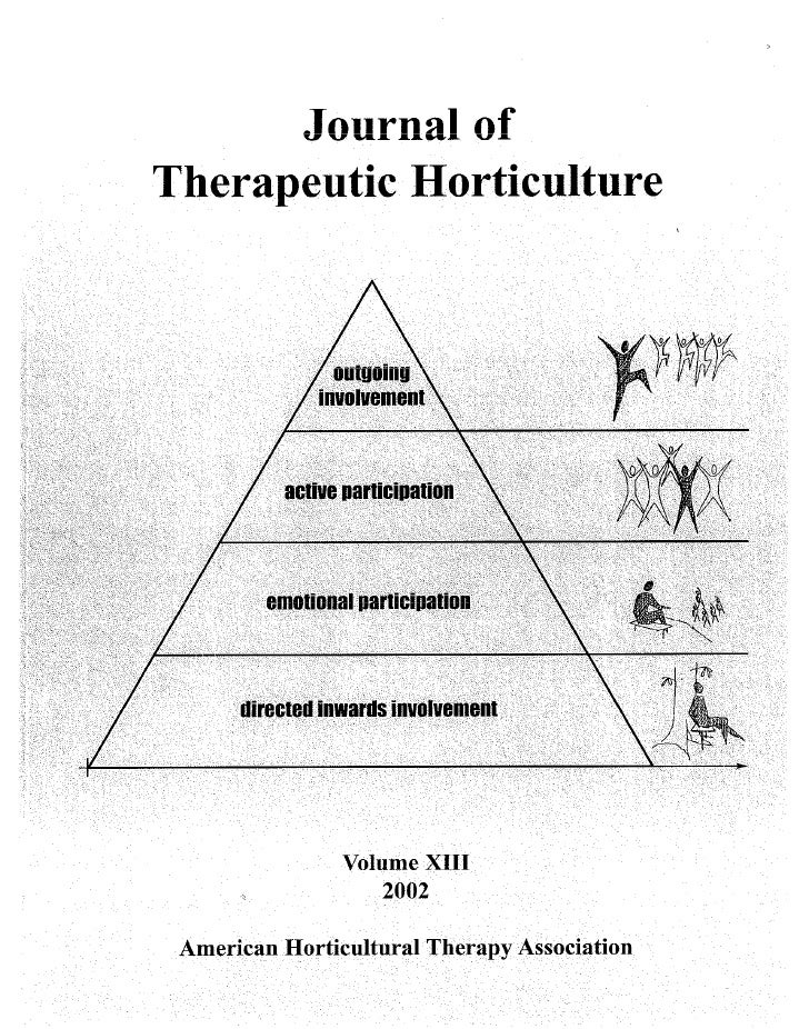 Proposing Horticultural Therapy Programs in Residential or Day Treatment Facilities