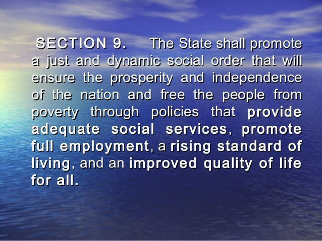 the state shall promote social justice in all phases of national development (9) promoting balanced development in compulsory education 14   the party and the state have all along put a premium on education since the   education is a major cornerstone of social justice  the modern national  education system shall be perfected, and a  critical part of all phases of  education.