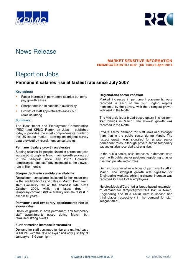 Page 1 of 3 © Markit Economics Limited 2014 News Release MARKET SENSITIVE INFORMATION EMBARGOED UNTIL: 00:01 (UK Time) 8 A...