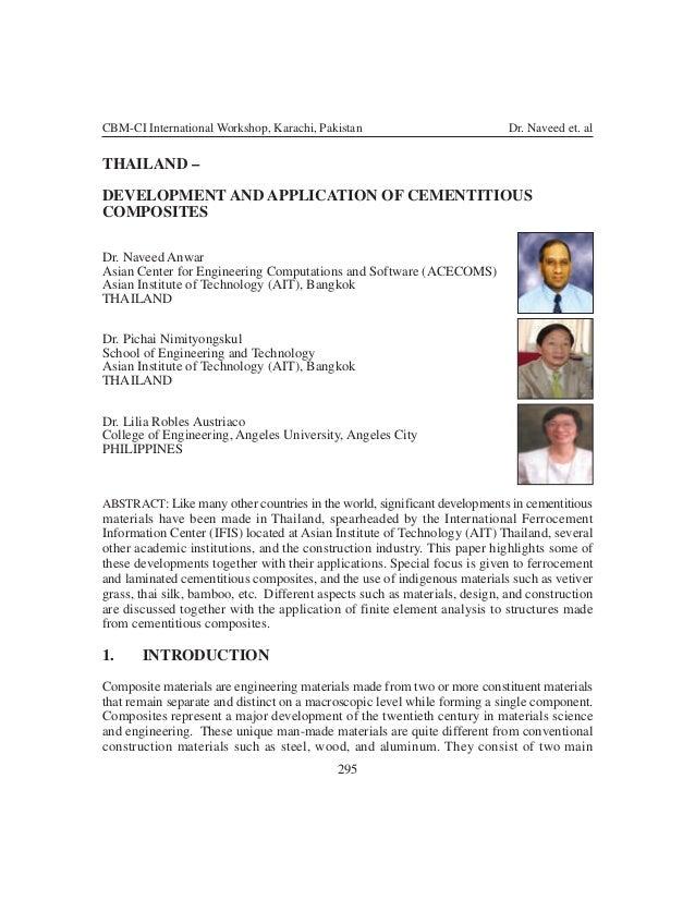 CBM-CI International Workshop, Karachi, Pakistan                            Dr. Naveed et. alTHAILAND –DEVELOPMENT AND APP...