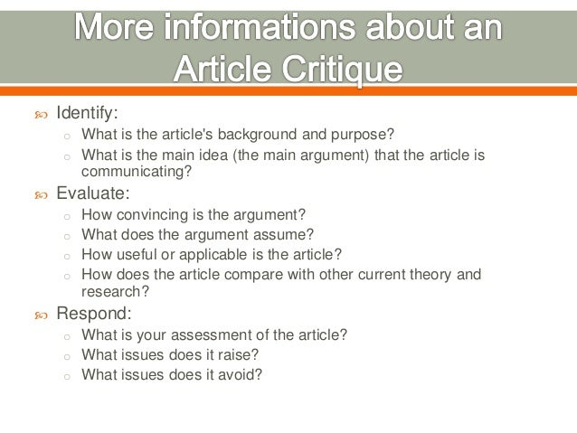 how to identify arguments in an article