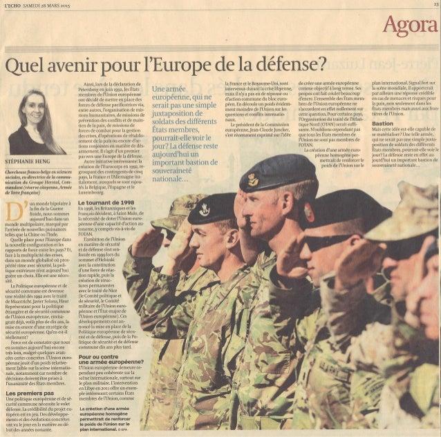 Quel avenir pour l'Europe de la défense ?