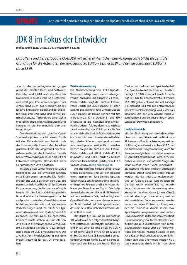 Article - JDK 8 im Fokus der Entwickler Slide 3