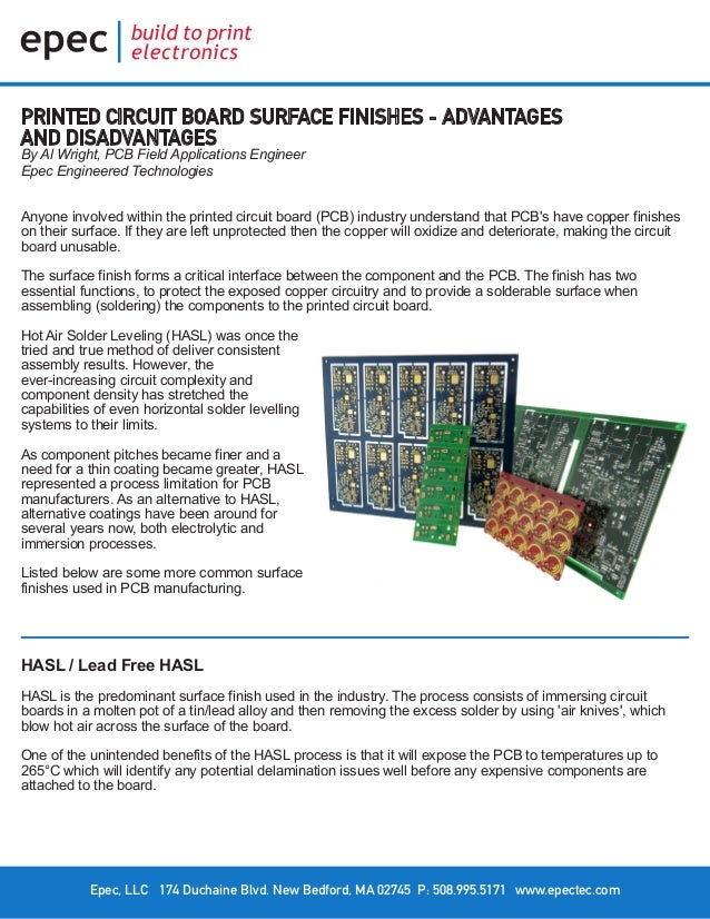 Printed Circuit Board Surface Finishes – Advantages and