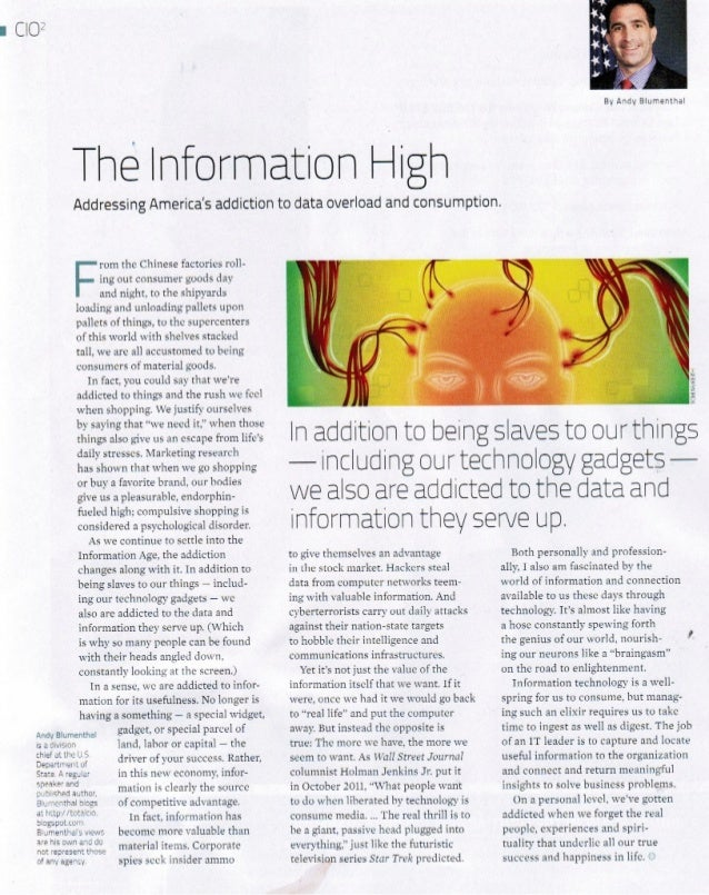 The Information High - Andy Blumenthal