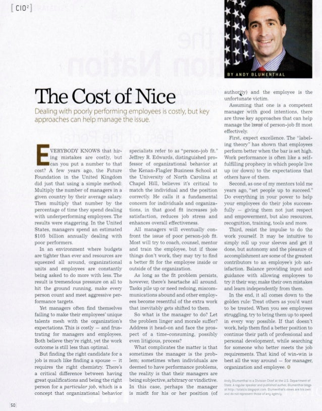 The Cost Of Nice - Andy Blumenthal
