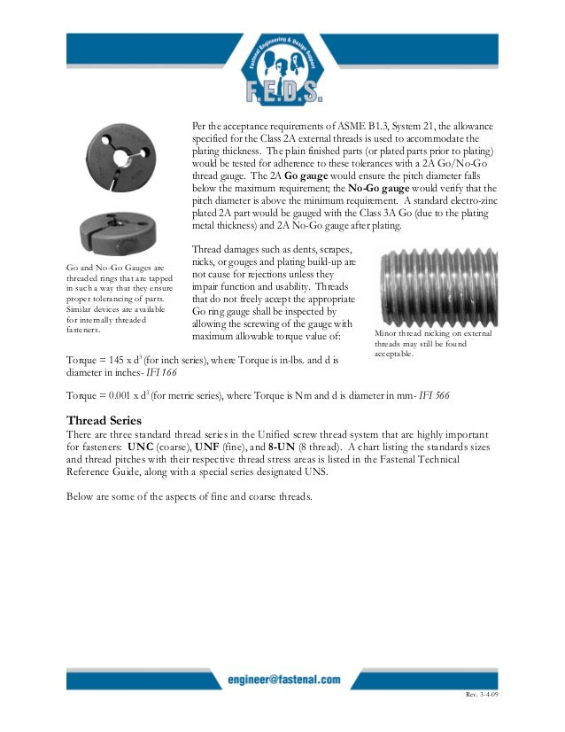 Article screw threads design
