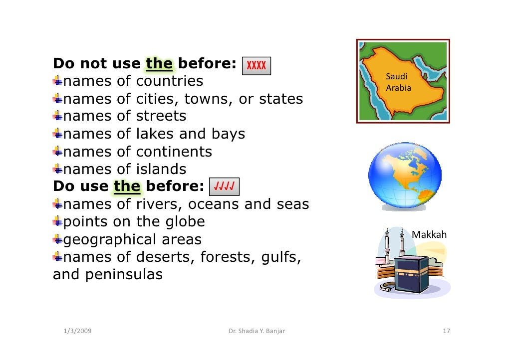 Do not use the before: XXXX                                               Saudi  names of countries                       ...