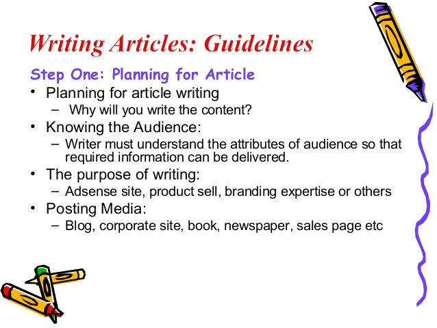 how to write an article for a newspaper