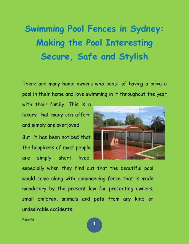 Swimming pool fences in sydney making the pool What swimming pool laws apply in nsw