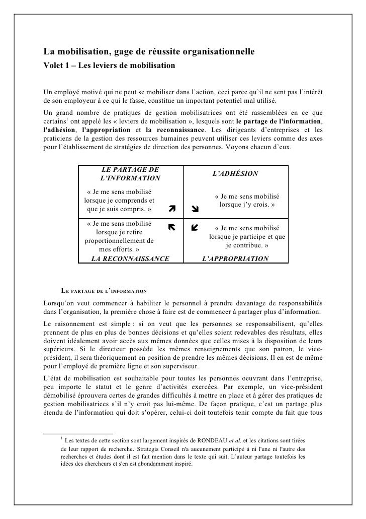 Article 1   leviers de mobilisation