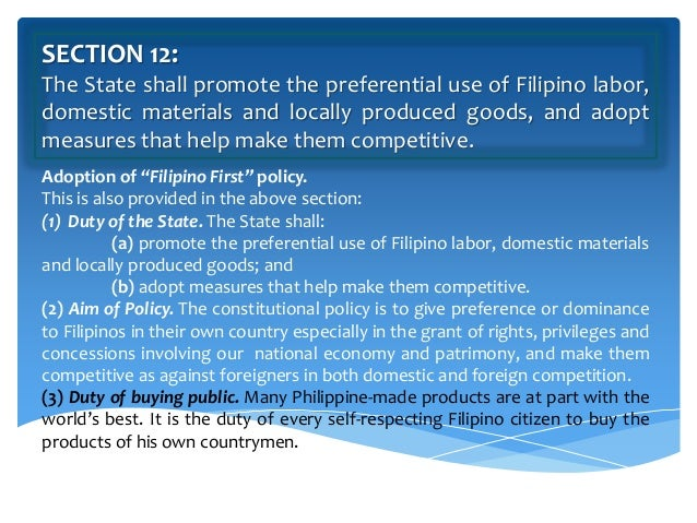 article 12 national economy and patrimony (articles vi and vii) new article on federal and regional powers,  national  economy and patrimony (article xii) new article on the bill of.
