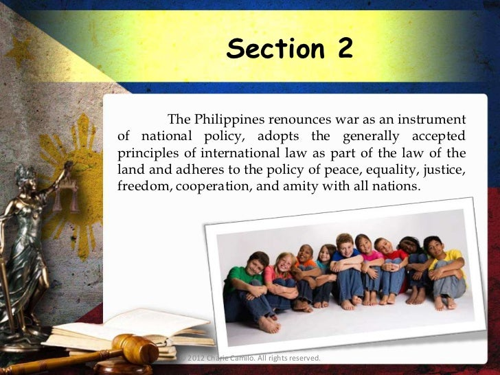 article 2 section 7 of philippine constitution For social studies, we made a video to represent the rules stated in article 2, sections 2, 3, and 4 of the united states constitution enjoy our video.