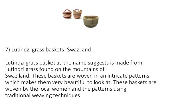all about african baskets uses and history